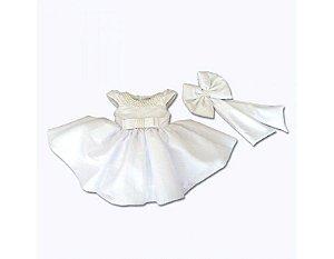 Vestido Daminha em Treinamento Branco - Infantil