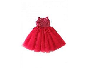 Vestido de Festa Vermelho - Infantil