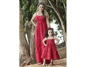 Vestido Longo Vermelho - Tal Mãe Tal Filha