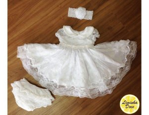 Vestido de Batizado Branco - Infantil