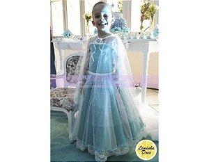 Vestido Da Elsa Frozen -Vestido Infantil