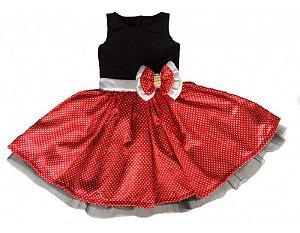 Vestido de Luxo Minnie - Infantil