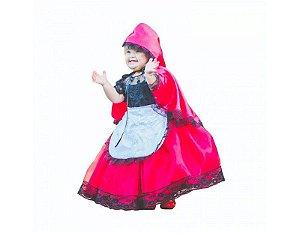 Vestido de Luxo da Chapeuzinho Vermelho - Infantil