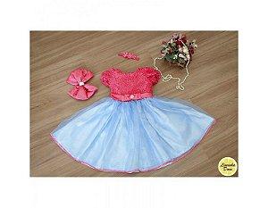 Vestido Festa da Barbie - Infantil