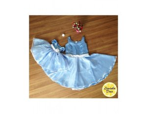 Vestido Azul Claro - Tal Mãe Tal Filha