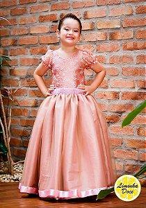 Vestido de Daminha Alta Costura Rose - Infantil