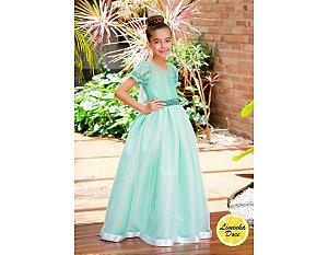 Vestido de Daminha Alta Costura Verde - Infantil