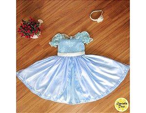 Vestido de Daminha Azul Claro - Infantil