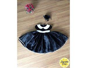 Vestido de Daminha de Luxo Preto - Infantil