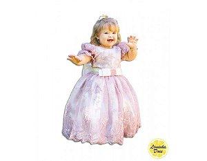 Vestido de Daminha de Luxo Rosa - Infantil