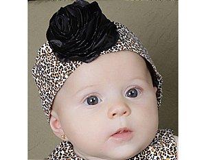 Faixa de Cabelo Infantil com Estampa de Oncinha