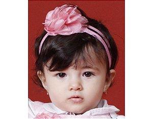 Faixa de Cabelo Infantil Rosa