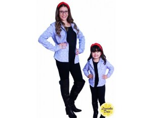 Camisa Jeans Estampada - Tal Mãe Tal Filha