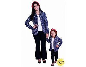 Conjunto Camisa Jeans e Blusinha - Tal Mãe Tal Filha