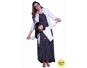 Conjunto Vestido Longo e Jaqueta Branca - Tal Mãe Tal Filha