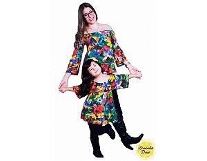 Blusinha Ciganinha Floral - Tal Mãe Tal Filha