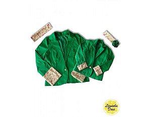 Casaco Verde com Floral - Tal Mãe Tal Filha