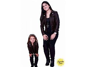 Jaqueta de Couro com Pérolas - Tal Mãe Tal Filha