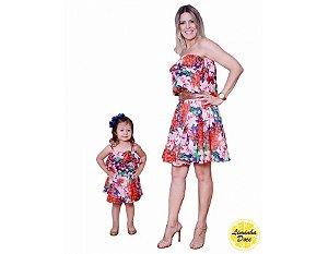 Vestido Tomara que Caia Floral - Tal Mãe Tal Filha