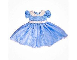 Vestido Azul Claro de Daminha - Infantil