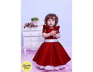 Vestido de Festa Vinho - Infantil