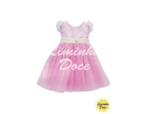 Vestido de Daminha Rosa - Infantil