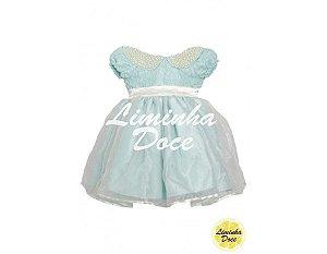 Vestido Social Azul Tiffany - Infantil