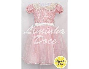 Vestido Social Rosa - Infantil