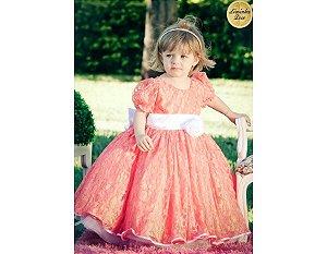 Vestido Laranja para Daminha - Infantil