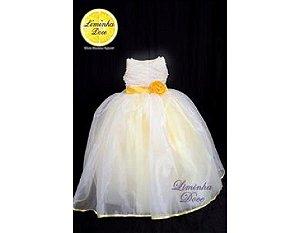 Vestido de Tule em Três Tecidos - Infantil