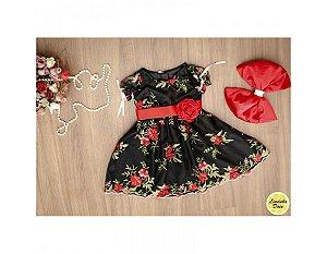 Vestido de Formatura Preto Bordado - Infantil