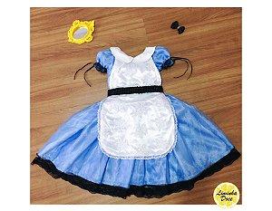 Vestido de Luxo Alice no País das Maravilhas - Infantil