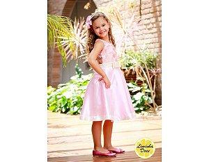 Vestido Social Rosa de Luxo - Infantil