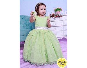 Vestido Tema Tinker Bell - Infantil