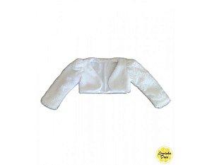 Bolero Off-White de Tecido Felpudo - Infantil