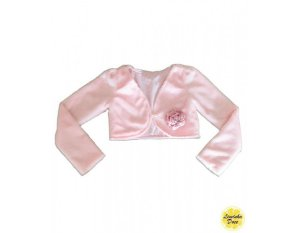 Bolero Rosa de Tecido Felpudo - Infantil