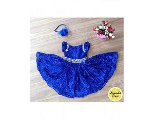 Vestido Azul de Renda - Infantil