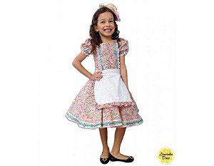 Vestido de Festa Julina Floral - Infantil