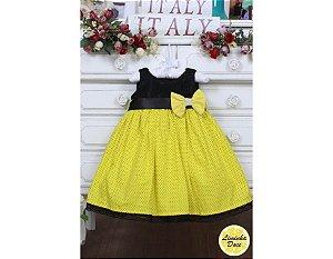Vestido Preto e Amarelo - Infantil