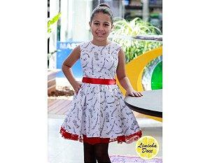Vestido de Festa Branco - Teen