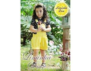Conjunto de Jardineira Amarelo - Infantil