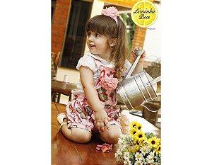 Conjunto de Jardineira Shorts - Infantil