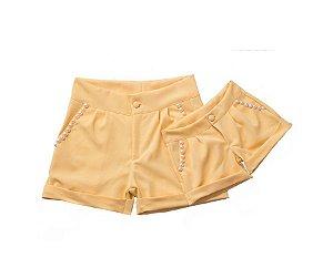 Conjunto Shorts Amarelo - Tal Mãe Tal Filha