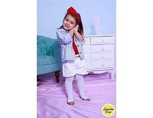 Conjunto Shorts, Blusa e Jaqueta - Infantil