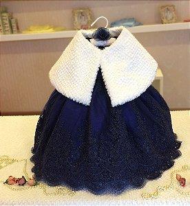 Vestido com Estola - Infantil