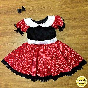 Vestido de Luxo Tema da Minnie - Infantil