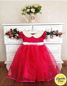 Vestido Social Rosa Pink - Infantil