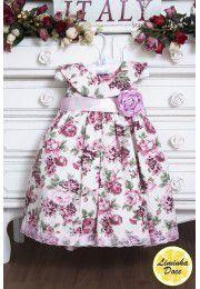 Vestido Social Floral Rose - Infantil