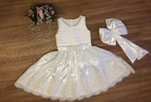 Vestido de Renda Branca - Infantil