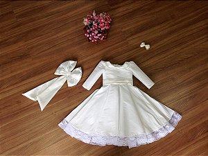 Vestido para Daminha com Manga Comprida - Infantil